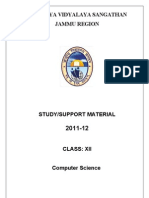 Support Material Computer Science2012