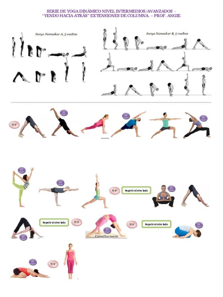 Serie de Yoga Dinámico Intermedios-Avanzados. Extensiones de columna d20c30a2b2f5