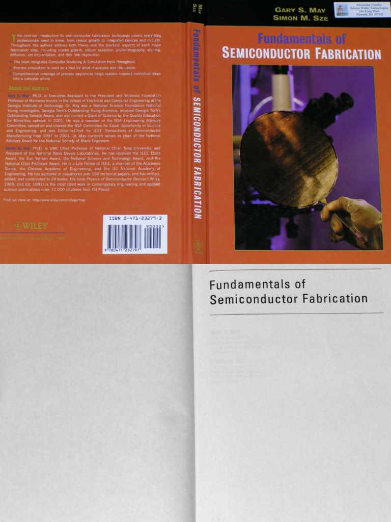 Fundamentals Of Semiconductor Fabrication Solution Manual Download 2wire Alternator Diagram 02 Tracker 2004 By Simon M Sze