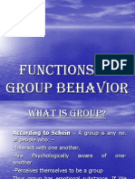 15. Functions of Group Behavior