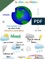 Paulina Tipos de Clima en Mexico Geografia