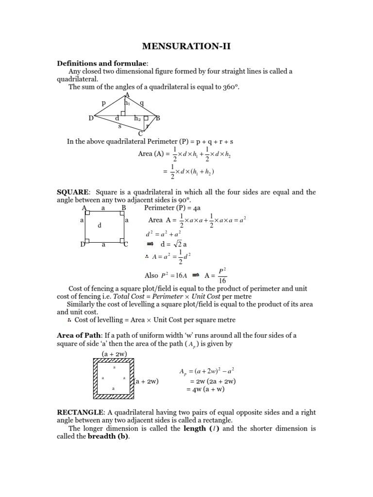 SM 15183 Mensuration II | Area | Triangle