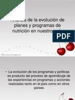 Análisis de la evolución de planes y programas
