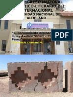 EL PENSAMIENTO ORDINARIO EN LA LEY AVELINO SIÑANI B
