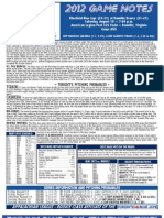 Bluefield Blue Jays Game Notes 8-18