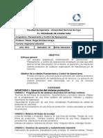UNC 2011. II. PCO. P1-Programa de Asignatura