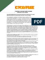 VectorFree Agreement