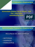 ADMINISTRAÇÃO FIN. E ORÇAMENTÁRIA_Aulas