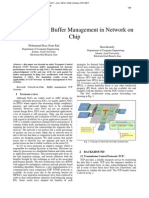 TCP Newreno Buffer Management in Network on Chip