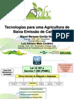 Tecnologias Agricultura de Baixo Carbono (ABC)