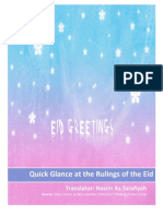 Eid Gift - Quick Glance at the Rulings of the Eids