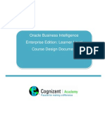 Course Design Document OBIEE - Learner