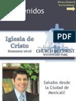 Servicio Iglesia de Cristo en WP 2011.11.20