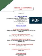 Consti2 Lecture Outline March 2012