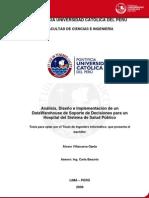 Implementacion de Un Datawarehouse de Soporte de Decisiones Para Un Hospital Del Sistema de Salud Publico