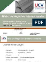 Sylabus - Negocios Internacionales
