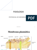 POTENCIAL DE MEMBRANA -UDES 2012