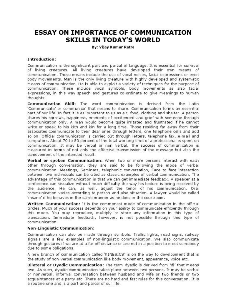 Essay importance communication skill cheap masters essay ghostwriting website for school