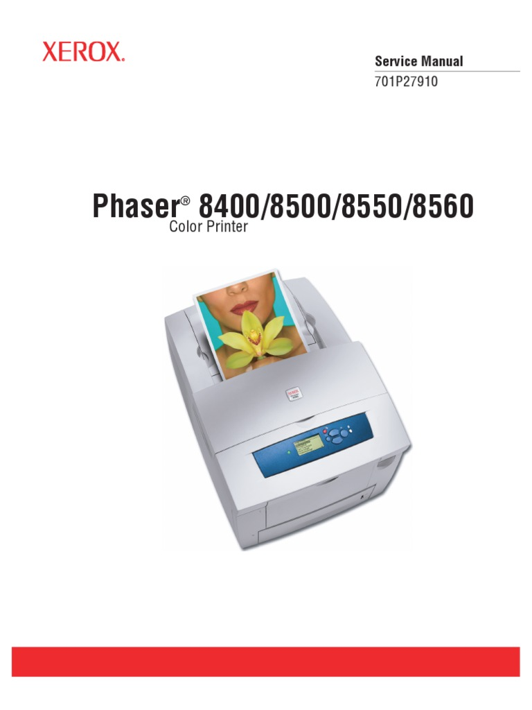 service manual xerox phaser 8560 electrostatic discharge rh es scribd com Xerox Color Printer Xerox Phaser 8650