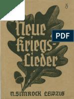 Pallmann, Gerhard - Neue Kriegslieder (1940, 84 S., Scan, Fraktur)