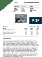 Évaluation de véhicule