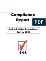 ASA Survey Onpack Promotions 2003 (2)