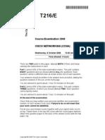T216 2008 Exam Paper