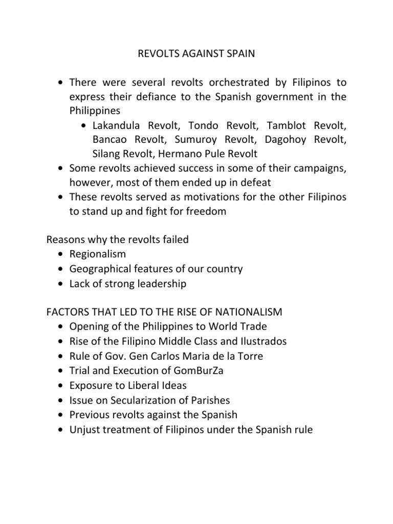 PHILGOV - Revolts Against Spain | Philippines | Unrest