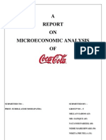 Micro Economic Analysis of Coca Cola