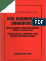 Petersen, Jens Und Levy, Louis - Der Brennende Dornbusch - Protokoll Eines Weisen Von Zion (1938-2005, 35 S., Scan-Text, Fraktur)