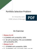 Portfolio Selection Problem