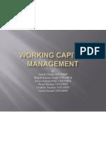 Working Capital Management- WCEFM (Group- 7)