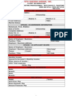 Toyota Credit Application Form