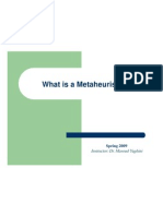 What is a Metaheuristic