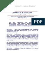 RA 7796 (TESDA Act of 1994)