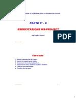 Esercitazione Ms Project