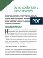 FACUA - El Consumo Sostenible y El Consumo Solidario