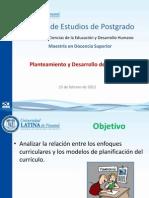 Planeación y Desarrollo del currículo 25 feb 2012