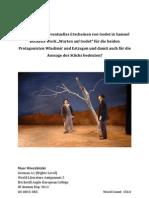 """IB German A1 HL World Literature 2 - Was würde ein eventuelles Erscheinen von Godot in Samuel  Becketts Werk """"Warten auf Godot"""" für die beiden Protagonisten Wladimir und Estragon und damit auch für die Aussage des Stücks bedeuten?"""