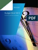 Budget Brief 2012