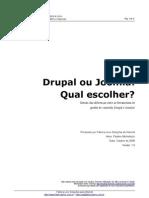 Comparativo Drupal x Joomla