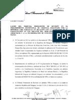 TPR - Laudo 01-2012 Paraguai