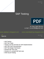 SAP Testing Venu