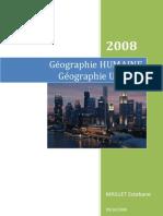 Géographie HUMAINE Géographie Urbaine