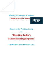 Planning Commission Report on Boosting India's Mfg Exports 2011