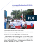 Rakhine Youths Protest Against Discrimination of UN