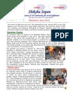 Shiksha Sopan June 2012 Newsletter