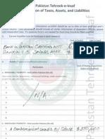 Fauzia Kasuri - PTI Leadership - Financial Asset Declaration