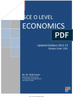 Economics- O Level Syllabus 2012-13