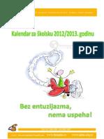 Skolski Kalendar Po Mesecima 2012-2013